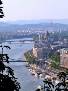 Gypsycouple Budapest Guide - River Danube from Gellert Hill