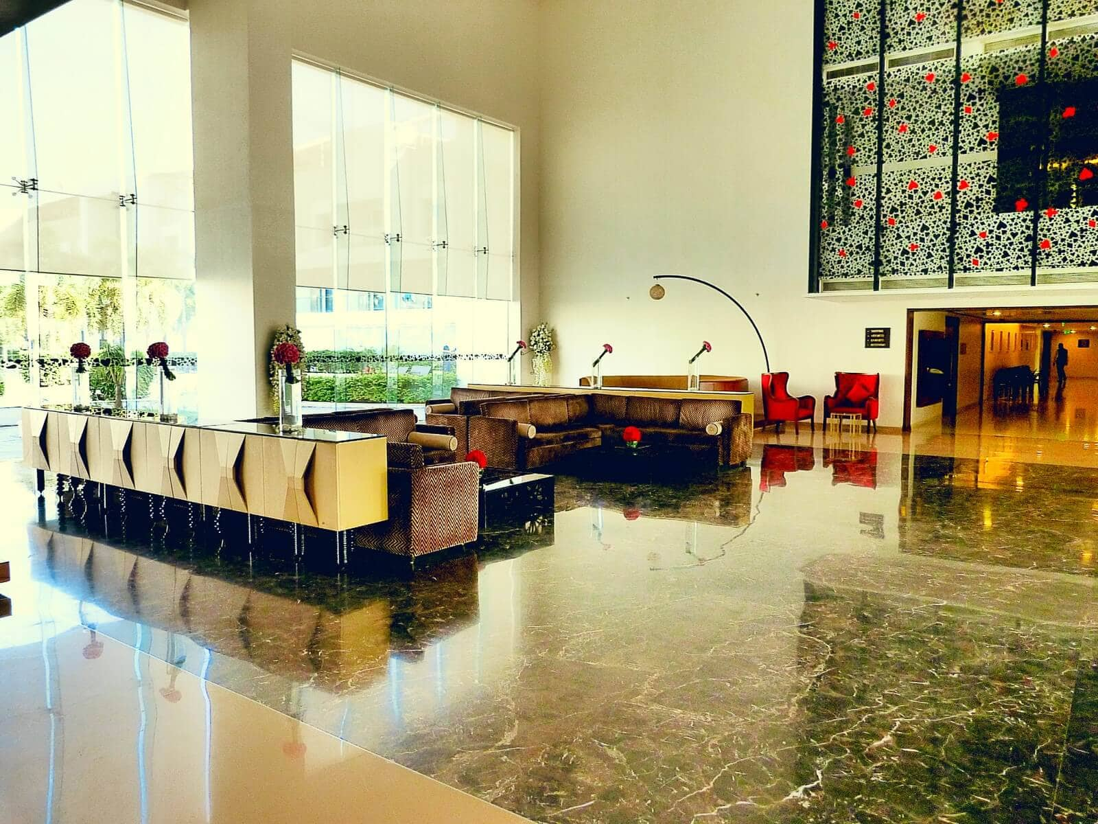 The Lobby & Reception at The Deltin, Daman