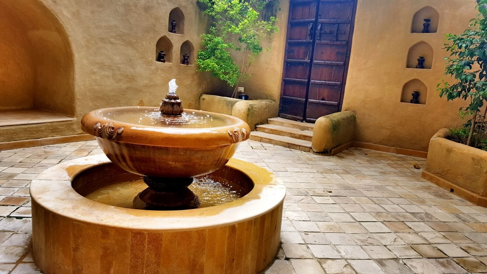 Fountain in our courtyard